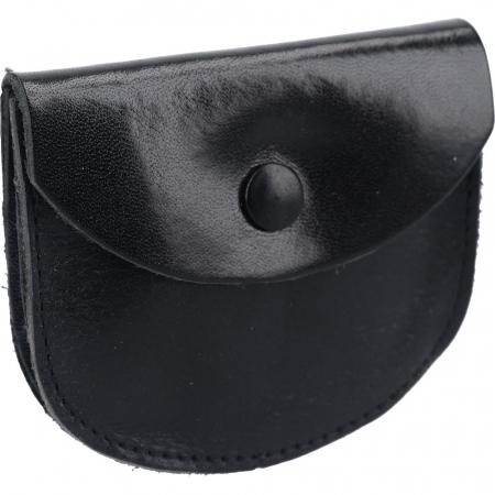 Rosenkranz Lederetui mit Steg, schwarz, Größe 8 x 7 cm