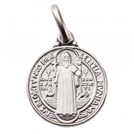 Benediktusmedaille - Anhänger, Echt Silber 925, Größe 10 mm